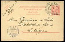 Palestina Levant Austria oficina de correos 10c tarjeta postal stationery Jaffa 1905 PMK