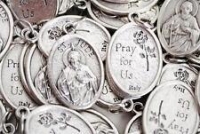 Catholic Italian St Jude 10 Medal Lot + Bonus Holy Cards - FREE SHIPPING