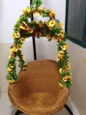 2018US Artificial Yellow Sunflower Garland Flower Vine Wedding Floral Arch Decor
