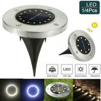 20LED Buried Solar Power Light Under Ground Lamp Outdoor Path Way Garden Decking