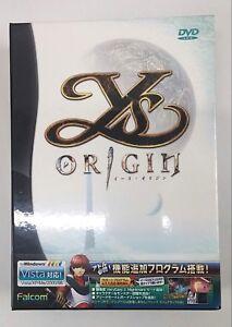 Ys ORIGIN Video Game for Windows VISTA/98/2000/Me/XP DVD ROM  in Japanese