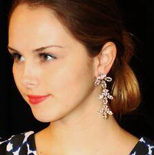 Kate Spade ICE QUEEN Chandelier Earrings 14K Gold Fill Crystal Drops $158 SILVER