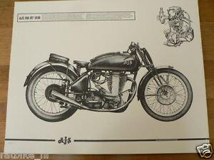 HELMUT KRACKOWIZER RENNMOTORRAD POSTER AJS 350 R7 1938 MOTORCYCLE