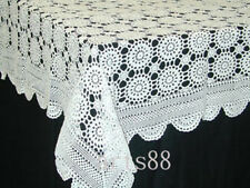 """Hand Made CROCHET Tablecloth   36"""" x 36"""" White Colorq"""