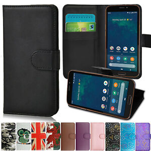 Slim Premium Leather Mobile Phone Wallet Book Case Cover For All Doro Phones