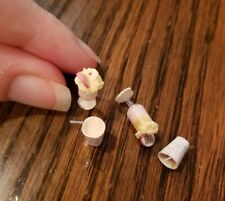 """Miniature Ice Cream Sodas w/ whipped cream and Drinks 5/8"""" tall for Dollhouse"""