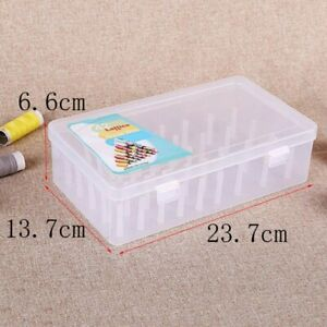Storage Box Case For Sewing Bobbins Embroidery Thread Fabric Needles Crafts UK