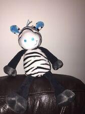 TESCO CUDDLE & love black white zebra STRIPE COMFORTER SOFT HUG TOY taggy cds