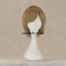 Short layered cosplay wig with fringe, sandy blonde, UK seller, Prince style
