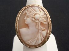 Antique Victorian 10K Gold Cameo Ring sz 7