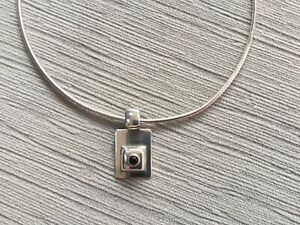 Silpada 925 Sterling Silver Black Onyx Pendant Necklace S0638 RETIRED 5.1gr