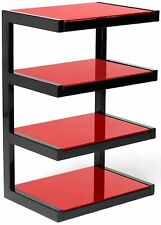 Norstone Esse 4 Shelf with Glass for Hi-Fi Systems - Red