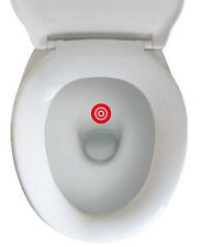 Kit 6 adesivi TARGET TOILET WC TRAINING divertente scherzo bagno bar bersaglio
