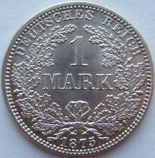 Top! 1 Mark 1875 a dans presque tampon brillance rare!!!