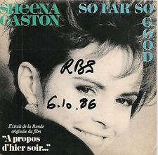 "45 TOURS / 7"" SINGLE PROMO--SHEENA EASTON--SO FAR SO GOOD / MAGIC OF LOVE--1986"