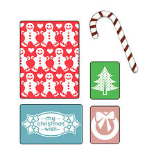 Sizzix My Christmas Wish Emboss set #658194 Retail $10.99 - FREE Sizzlits die!!
