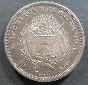 El Salvador, Silver 1 Peso, 1893, toned