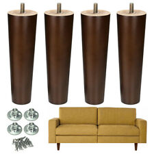 8 Inch Furniture Legs Sofa Couch Chair Legs Walnut Finished Replacement 4 pcs
