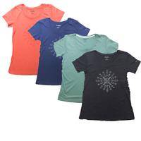 BNWT Columbia Sportswear T-Shirt Women's Active Fit Deep Crew Neck Camp Columbia