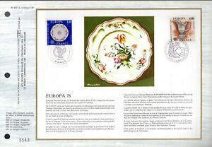 1877/8++FEUILLET CEF  1erJOUR   EUROPA  1976