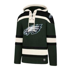 Philadelphia Eagles Lacer sweatshirt hoodie hood '47 Brand new nwt green black
