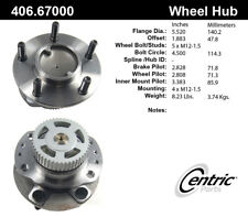 Wheel Bearing and Hub Assembly-FWD Rear Centric 406.67000E
