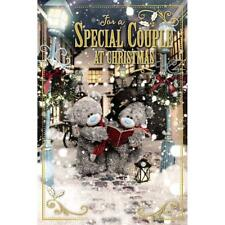 ME TO YOU FOR A SPECIAL COUPLE 3D HOLOGRAM CHRISTMAS CARD TATTY TEDDY BEAR