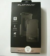 Platinum Protective Case with Holster for iPhone X and XS - Black NEW
