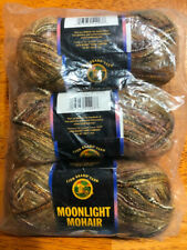 Lion Brand Moonlight Mohair Yarn-3 Skeins New - Color #203 Safari