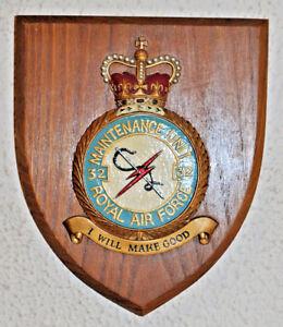 32 Maintenance Unit Royal Air Force mess wall plaque shield crest RAF MU