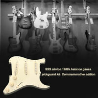Prewired Loaded SSS Guitar Pickguard Alnico V Pickups for Fender Strat Guitars
