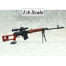 "SVD Sniper Rifle Weapon Gun For 1/6 Scale12"" Action Figure 1:6 Model Toy"