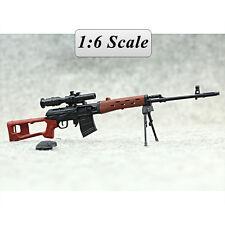"1/6 1:6 12"" Action Figure Weapon Model Gun  SVD Sniper Rifle"