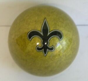 Pool Ball with New Orleans Saints Logo
