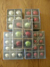 Pottery Barn Christmas Mercury Glass Ball Ornments-EmbossedRed,Green,Silver,Gold