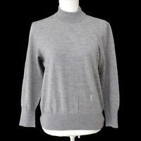 Yves Saint Laurent Vintage Long Sleeve Tops Gray Wool #M Authentic AK31714h
