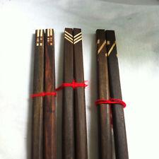 Antique Vintage Collectible Wood 3 Pair Chopsticks Handmade Gift Thai Craft
