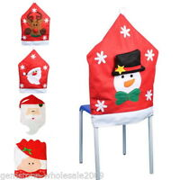 1PC Christmas Chair Back Cover X-mas Home Decorations Dinner Holiday Santa 50