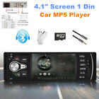 "4.1"" Screen 1 Din Car MP5 Player Bluetooth Reversing Video Radio Remote Control"