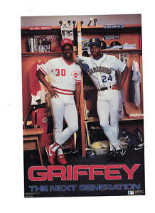 1989 Ken Griffey Jr. Mariners & Sr. Costacos Brothers 6 1/2 x 10 Mini Poster