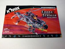 KNEX INSTRUCTION MANUAL ONLY #12524 Cobra Striker Instructions Book