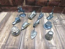 New Listing1999 Monopoly Board Game Replacement Parts Pieces 11x Pewter Tokens Movers Pawns