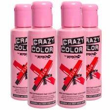 Paquete De 4-Rojo Fuego-Renbow Crazy Color | No 56 tinte Pelo Semi Permanente