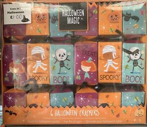 1 x BOX OF NEW HALLOWEEN CRACKERS TABLE DECORATIONS - 6 CRACKERS PER PACK