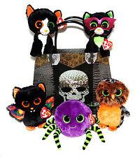 ty Beanie Boos Glubschis HALLOWEEN 6tlg Set Fledermaus Scarem + Katze Frights +