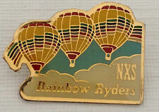 """NXS"" Rainbow Ryders Hot Air Balloon Pin Button Lapel Promo Promotional"