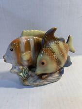 Vintage Glazed Ceramic Fish Decor Bathroom Opalescent Pastel Colors