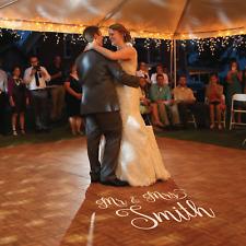MR & MRS Removable Vinyl Floor Decal Stickers. Wedding. Dance Floor *CUSTOM NAME