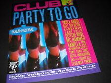 CLUB MTV 1991 Promo Ad DEPECHE MODE Vanilla Ice JANE CHILD Paula Abdul CANDYMAN