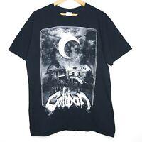 Caliban Ghost Empire Mens Black T-Shirt Size Large German Metalcore